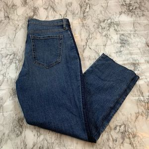 Banana Republic Straight Leg Two Tone Jeans RawHem
